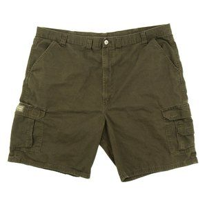 Wrangler Men's Cargo Shorts Flap Pockets Brown 46
